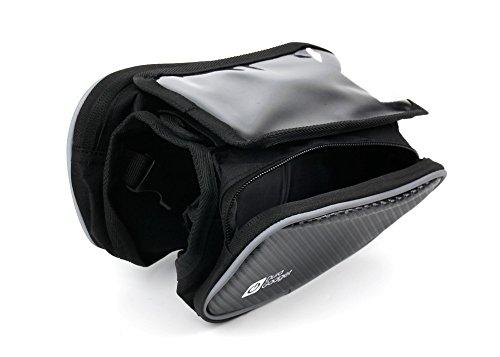 DURAGADGET Bolsa/Alforja de Bicicleta para Smartphone LG G8 ThinQ - Varios Bolsillos...