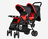 #8: Baby Plus Twin Stroller with Reclining Seat, 0+ Years- Red