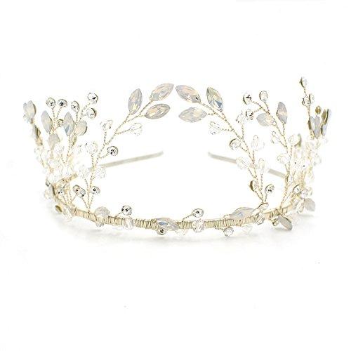Boho Stil Silber Kristall Haarband Tiara–Bridal Hochzeit Kopfbedeckung (Cute Halloween Kostüme Girl Country)