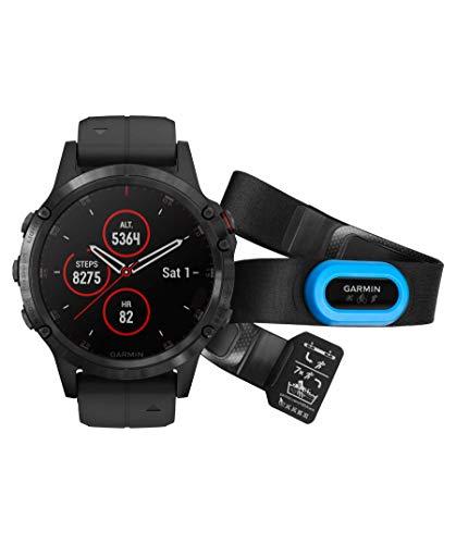 Garmin GPS Fenix 5 Plus NEGR.47MM C/TRAN Mano Ciclismo Unisex Adulto