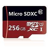 weiluop Micro SD Karte 256GB, microSDXC 256GB Class 10 Speicherkarte + Adapter(S57-N1)