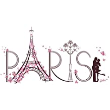 Vinilo Decorativo Pegatina Pared Para Sala Dormitorio Romántico Paris