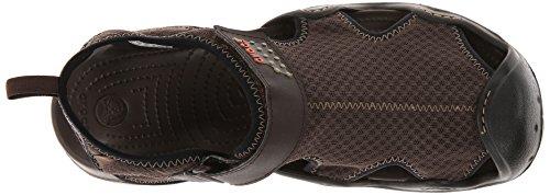 Crocs Swiftwater Sandal, Sandales Bout ouvert - Homme Marron (Espresso/Espresso)