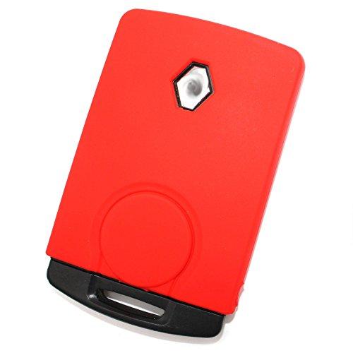 Finest Folia, custodia portachiavi RB per chiavi dell'auto a 4 pulsanti, cover di silicone Rot