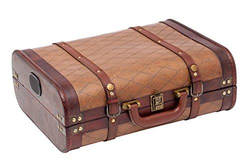Kofferschallplattenspieler-Geschlossen und von der Seite