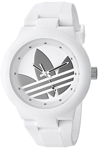 adidas Women's 'Aberdeen' Quartz Rubber and Silicone Casual Watch, Color:White (Model: ADH3208)