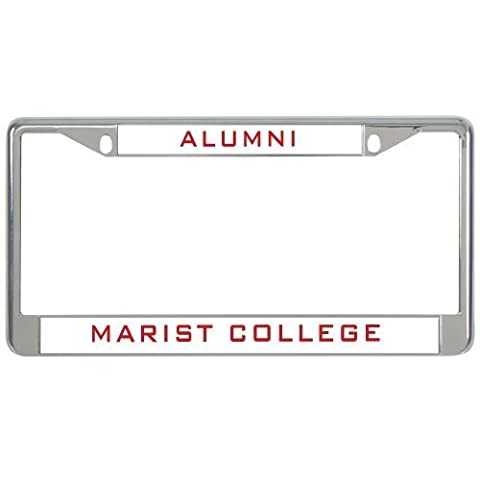 IMG Marist Metal License Plate Frame in Chrome Alumni