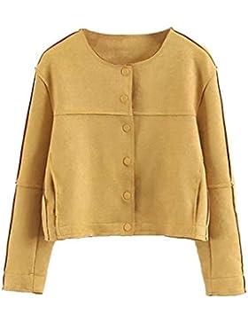 Internert Moda mujer invierno otoño abrigo Outwear Chaqueta de gamuza Chaqueta corta de mujer chaqueta de gamuza