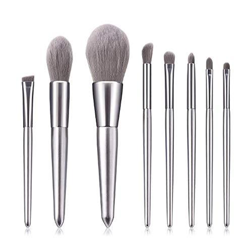 Edary Make-up Pinsel Sets 8 Silber Make-up Pinsel Tail Moonlight Elegante Peeling-Qualität Set Beauty Tools