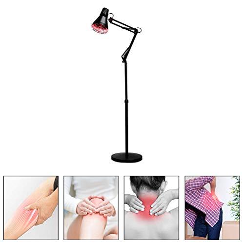 Infrarotlampe wärmelampe rotlichtlampe waermelampe 275W Rotlicht Strahler Infrarotlichttherapie, 360° Universalkopf, ca. 30 cm effektive Beleuchtung (Eisen-infrarot)