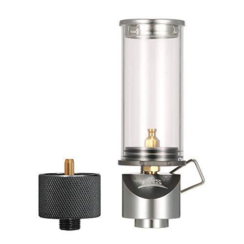 Festnight Lampe Licht Butangas Licht Laterne mit Gas Adapter Conversion Head für Camping Picknick Selbstfahrer