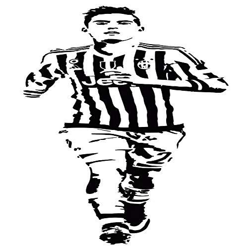 jiushizq DIY Tapete Fußballstar Aufkleber Sport Wandtattoo PVC Aufkleber Rot 120 x 41 cm
