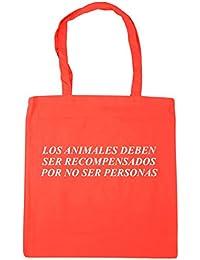 HippoWarehouse ANIMALES DEBEN SER RECOMPENSADOS POR NO SER PERSONAS Bolso de Playa Bolsa Compra Con Asas para gimnasio 42cm x 38cm 10 litros capacidad