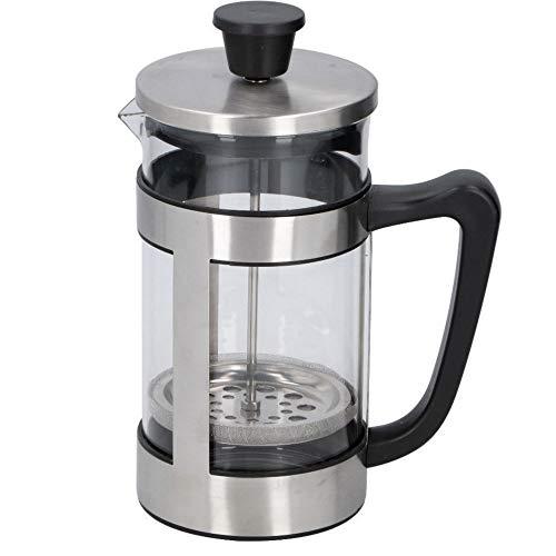 TronicXL Design French Press 1 Liter 1L Kaffeemaschine und Teebereiter Kaffeebereiter Kaffeepresse Silber - Kaffee Maschine manuell zum drücken ohne Strom Permanent Filter
