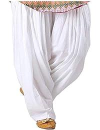 Prabha creations Readymade Cotton Comfort Patiyala Salwar Free Size for Women (Pack of 1) White