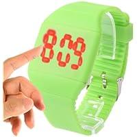 Fashion Digital LED Quarzo Wrist Orologio con Touch Screen(Green)