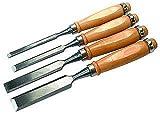 McDrill Beitelsatz mit Holzgriff McDrill 4tlg. Breite: 6 mm, 12 mm, 18 mm, 24 mm