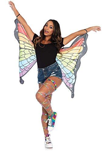 Festival Regenbogen Schmetterlingsflügel von Leg Avenue Damen Kostüm-Zubehör (Butterfly Für Erwachsene Kostüme Halloween)