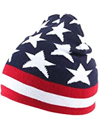 Alsino Beanie Mütze USA Wollmütze Beanies Strickmütze UK Ballonmütze Unisex weich Unigröße