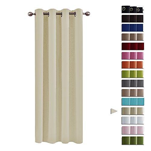 Pony dance tendaggi moderni beige antimosche per cucina camera da letto tessuti termiche (132 x 240 cm, 1 pannello)
