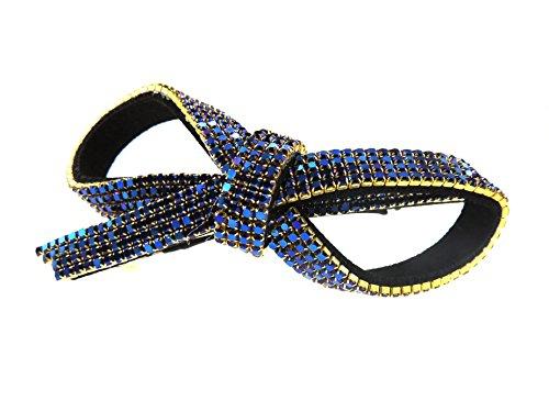 Extra diamanti, 10 cm, in cristallo, con catenina, da donna, per abiti da sera, con (Art Deco Di Cristallo)