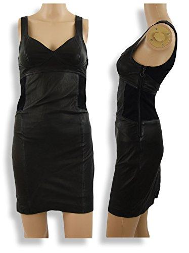 Diesel Black Gold vestito dokid in pelle abito OKI, Nero nero s