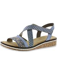 Rieker Damen Sandale weiss 61949 80 | Shoes, Women, Sandals