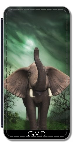 flip-cover-case-for-microsoft-lumia-435-fantasy-elephant-style-by-wonderfuldreampicture
