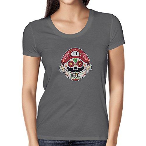 NERDO - Mexican Mario - Damen T-Shirt, Größe L, (Für Frauen Bros Super Kostüme Mario)
