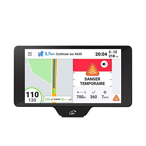 Coyote - NAV+ - Assistant d'aide à la Conduite - GPS avec cartographie 3D - Alertes en Temps réel - Anticipation des Dangers sur 30 km - Assistant Vocal - Nouvelle réglementation 80 Km/h !
