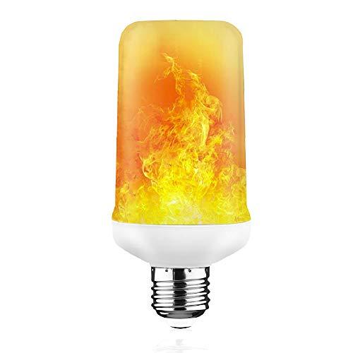 LED Flame Effekt Glühbirne, E27 Standard Base flackernde Feuer GlühBirnen 7W 350 Lumen mit auf den Kopf gestellte Funktion für Halloween WeihnachtsHaus Hotel Bars Dekoration (1 Packung)
