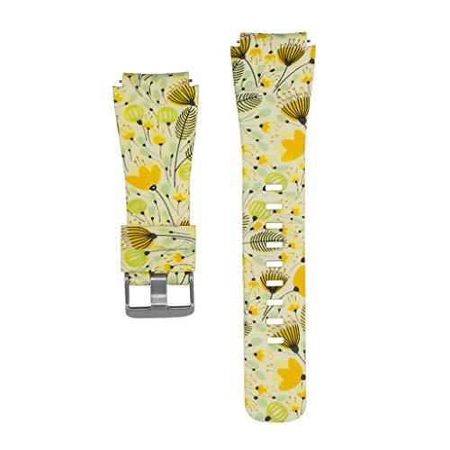 al Flower Watchband weichem Silikon Wrist Strap Armband Ersatz für Samsung Gear/Galaxy S3 Frontier/Classic Smart Watch Zubehör ()