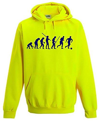 FUSSBALL EVOLUTION ! Kinder NEON SWEATSHIRT gelb Kinder 9/11 Jahre