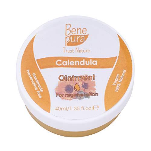 Calendula-ringelblume Salbe (Natürliche Ringelblumen Salbe 40ml, kaltgepresstes Öl Extrakt, 100% natürlich - heilt Wunden, Prellungen, Verbrennungen - reines Naturkonzentrat - handgefertigt in der EU)