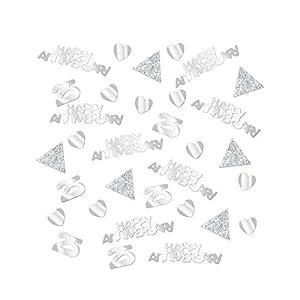 Brillante Plata Aniversario Confeti 28G