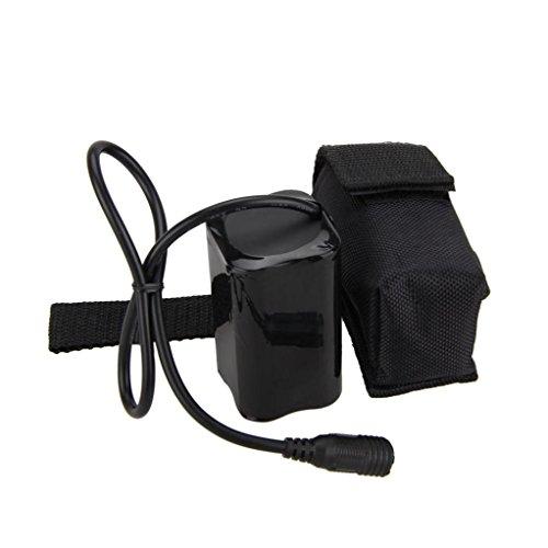 batería para linterna bicicleta Sannysis 8.4V USB recargable 12000mAh 4X18650 batería para Bicicleta luz Bicicleta Antorcha (negro)