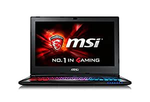 MSI GS60-6QE4K16H21 39,6 cm (15,6 Zoll) Notebook (Intel Core i7 -6700HQ (Skylake), 16GB DDR4 RAM, 1TB HDD, 256GB SSD, NVIDIA Geforce GTX 970M, Win 10 Home) schwarz