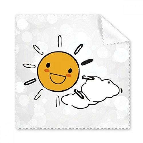 Wetter Sun Cloud Illustration Muster Brille Reinigungstuch Reinigungstuch Handy-Display von 5x Geschenk