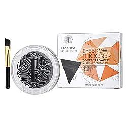 Fidentia Eyebrow Thickener | Augenbrauenpuder für natürlich dichtere Augenbrauen | Alternative zu Augenbrauenfarbe (Schwarz)