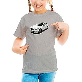 Billion Group   White Sedan   Fast And Furious Motor Cars   Girls Classic Crew Neck T-Shirt Grey Large