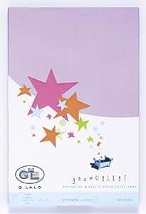 G. Lalo - Correspondance, Faire-part - G.Lalo - 20 Feuilles A4 Gazouillis Lilas 170g