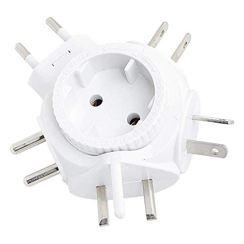 LogiLink PA0054 Reiseadapter Steckdose für Euro Stecker, für viele Länder geeignet (Siehe...