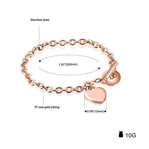 Imagen de zhouyf® pulseras personalized women stainless steel bracelet heart shape party jewelry for women bangles best gift for friend alternativa