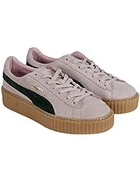 Puma Suede Rihanna Fenty Creepers para mujer rosa Suede Lace Up Zapatillas zapatos 7