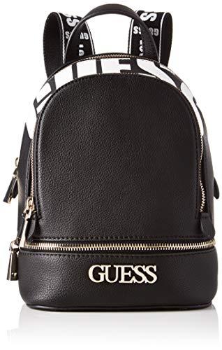 Guess Damen Skye Backpack Rucksack, Schwarz (Black), 9x26.5x20 centimeters
