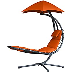 Vivere DREAM-OZ Rêveuse Originale Chaise Suspendue Acier Zest Orange 187 x 104 x 213 cm