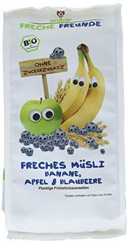 Freche Freunde Bio Frühstücks-Müsli Banane, Apfel & Blaubeere, 8er Pack (8 x 200 g)