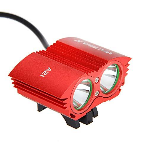 SYH Fahrradlicht Superhelle LED Eule Scheinwerfer T6 Professionelle Blendung Geeignet für Nachtfahrten, Reisen im Freien,Rot