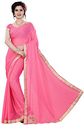 Saree(MAC Sarees Saree For Women Party Wear Half Sarees Offer Designer Below 500 Rupees Latest Design Under 300 Combo Art Silk New Collection 2017 In Latest With Designer Blouse Beautiful For Women Party Wear Sadi Offer Sarees Collection Kanchipuram Bollywood Bhagalpuri Embroidered Free Size Georgette Sari Mirror Work Marriage Wear Replica Sarees Wedding Casual Design With Blouse Material  available at amazon for Rs.319