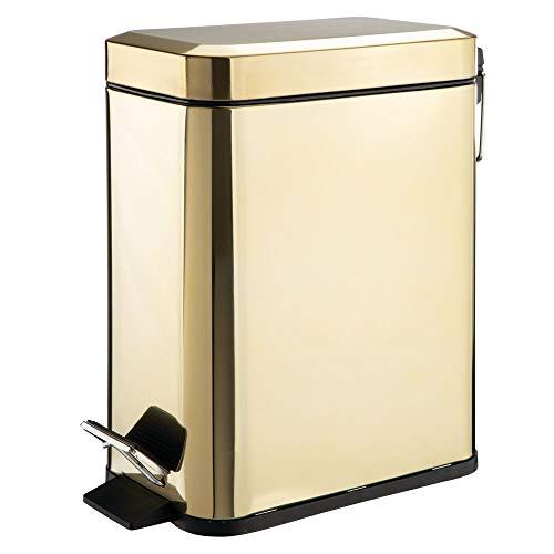 MDesign Cubo basura rectangular - 5 litros - Compacto